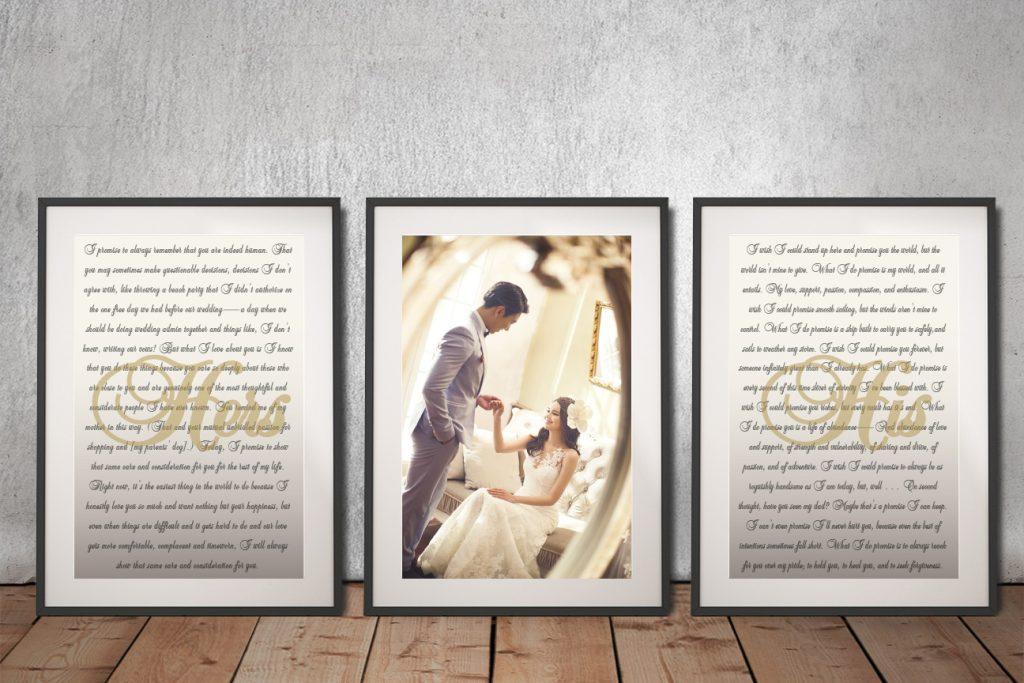 Personalised Triptych Wedding Gift Ideas AU