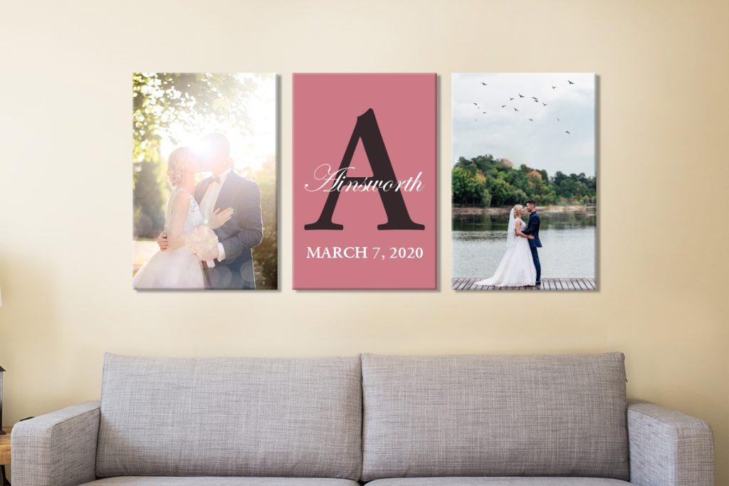 Buy Custom 3-Piece Framed Wedding Wall Art