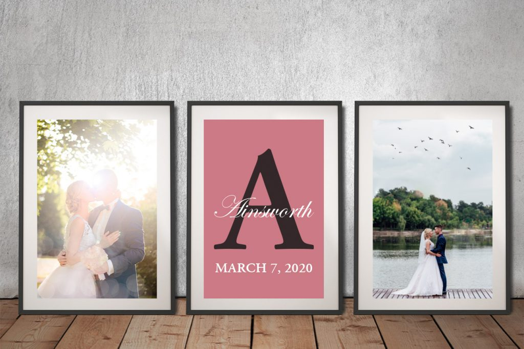 Ready to Hang Unique Custom Wedding Word Art