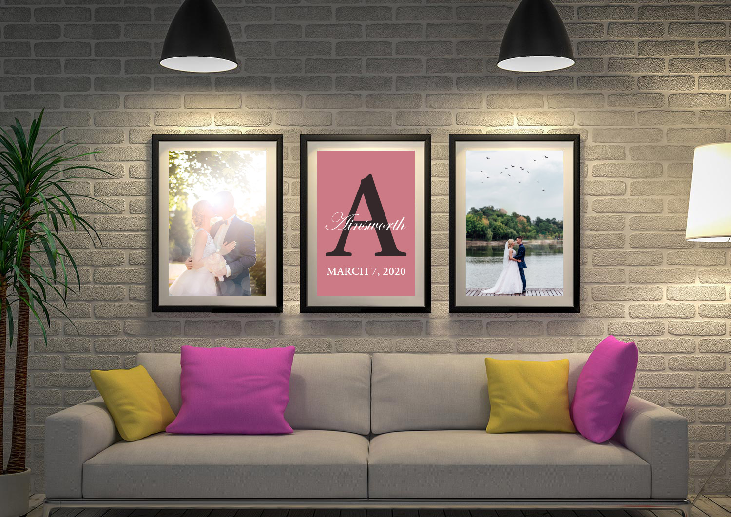 Buy Personalised Wedding Vow Triptych Art | Wedding Vows Art Triptych 10