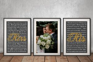 Buy Affordable Unique Wedding Vow Canvas Art