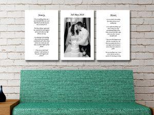 Get Wedding Vow Personalised Art Online