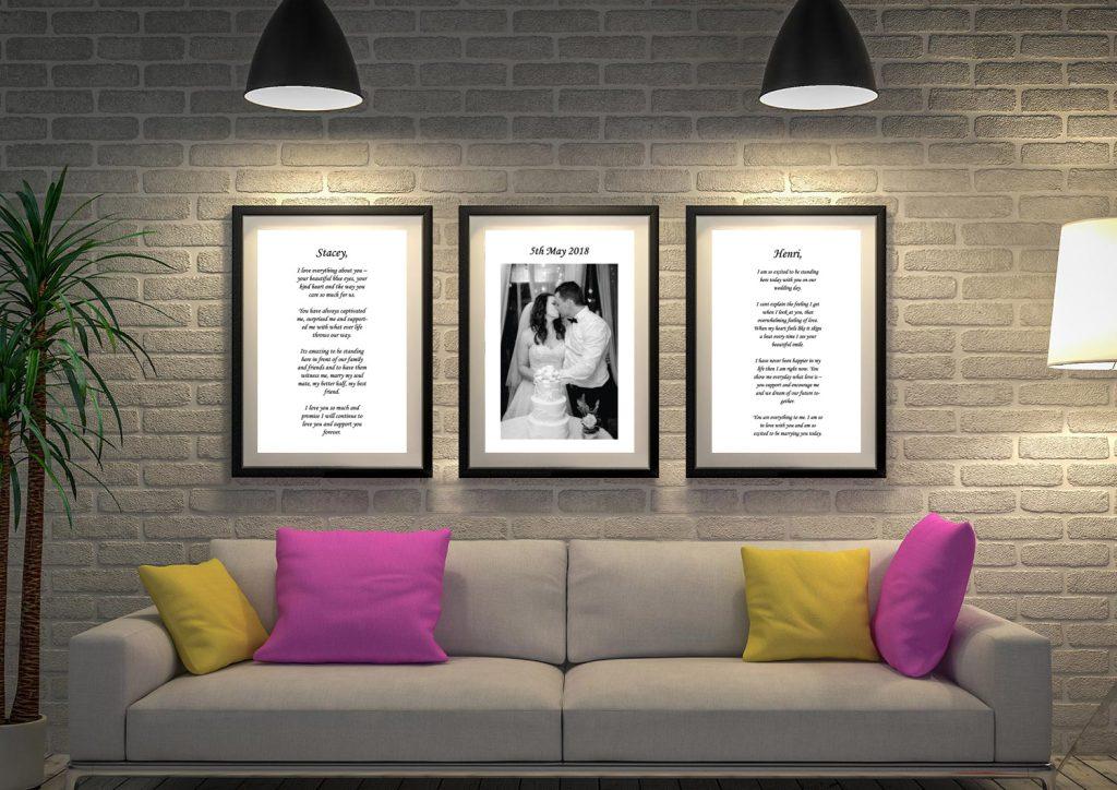 Buy a 3-Canvas Custom Wedding Vow Art Set