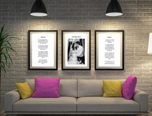Buy a 3-Canvas Custom Wedding Vow Art Set