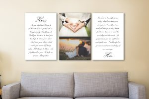 Buy Personalised Romantic 3-Panel Art