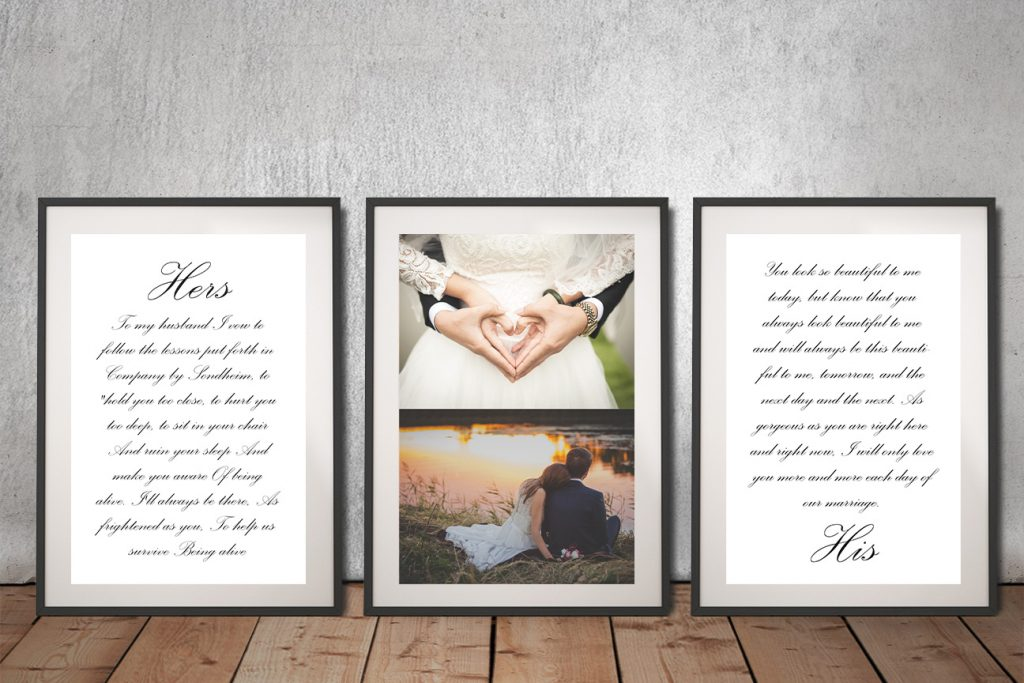Buy Ready to Hang Wedding Vow Custom Art