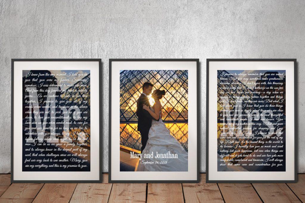 Buy Framed Custom Marriage Vows Artwork