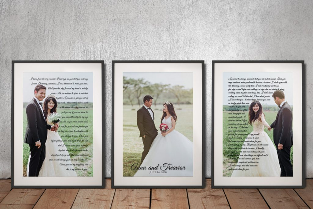 Buy Personalised Marriage Vows Canvas Art Online