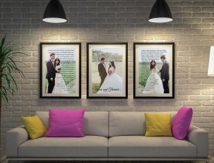 Buy Custom Wedding Vows 3-Piece Wall Art