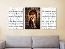 Buy Newly Weds Custom Triptych Wall Art
