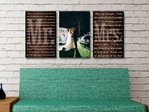 Buy Custom Romantic 3-Panel Canvas Wall Art