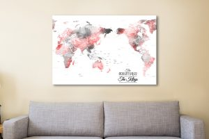 Buy a Grey & Red Pacific Centric Custom Map AU