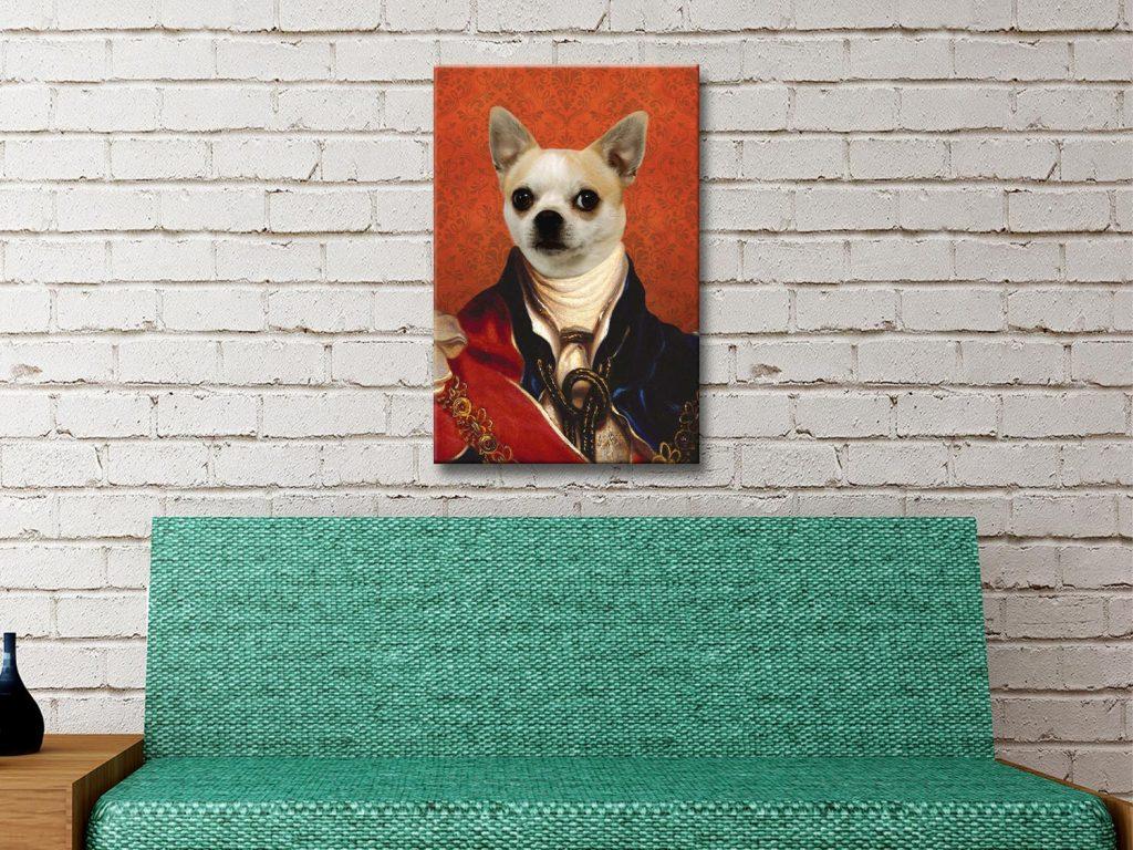 Personalised Pet Portrait Canvas Artwork