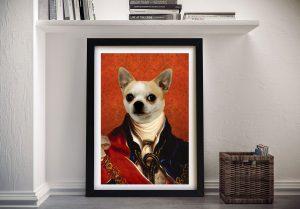 King Pet Portrait Framed Wall Art