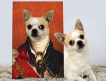 British King Pet Portrait Art