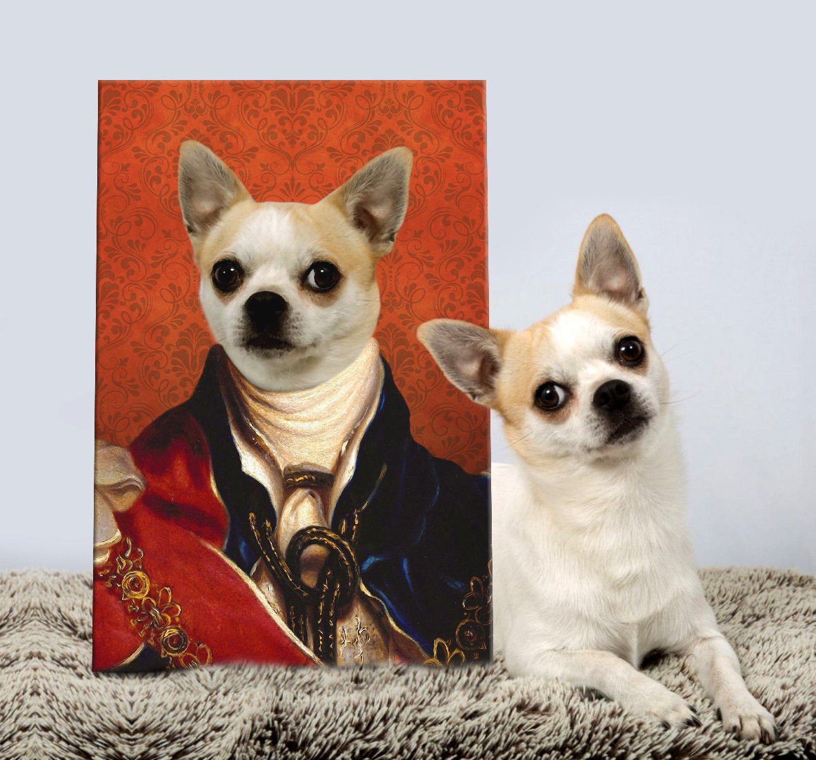 British King Pet Portrait Art | King of England