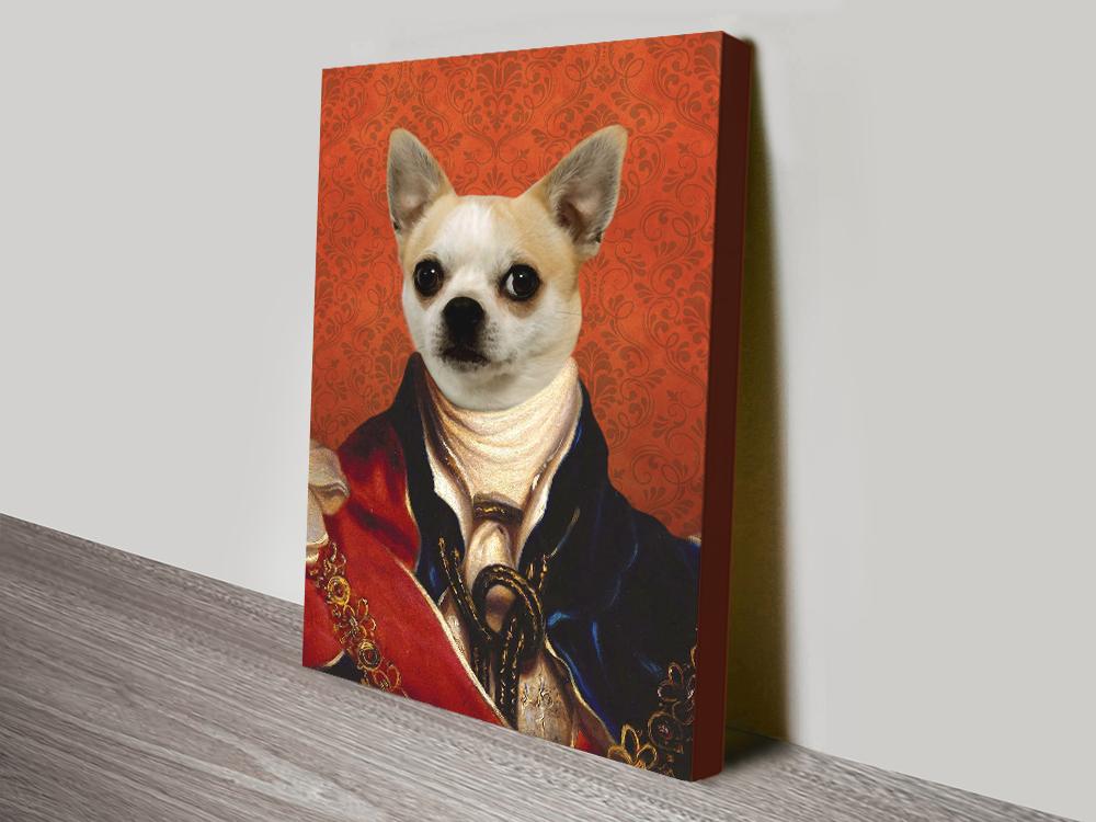 Custom King Pet Portrait canvas print