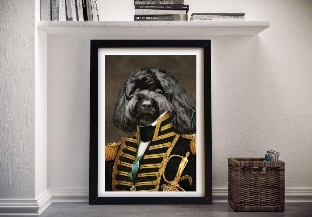 Admiral Dog Portrait Framed Wall Art