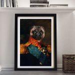 Baron-Personalised-Pet-Portrait-Framed-Art