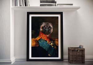 Baron Personalised Pet Portrait Framed Art