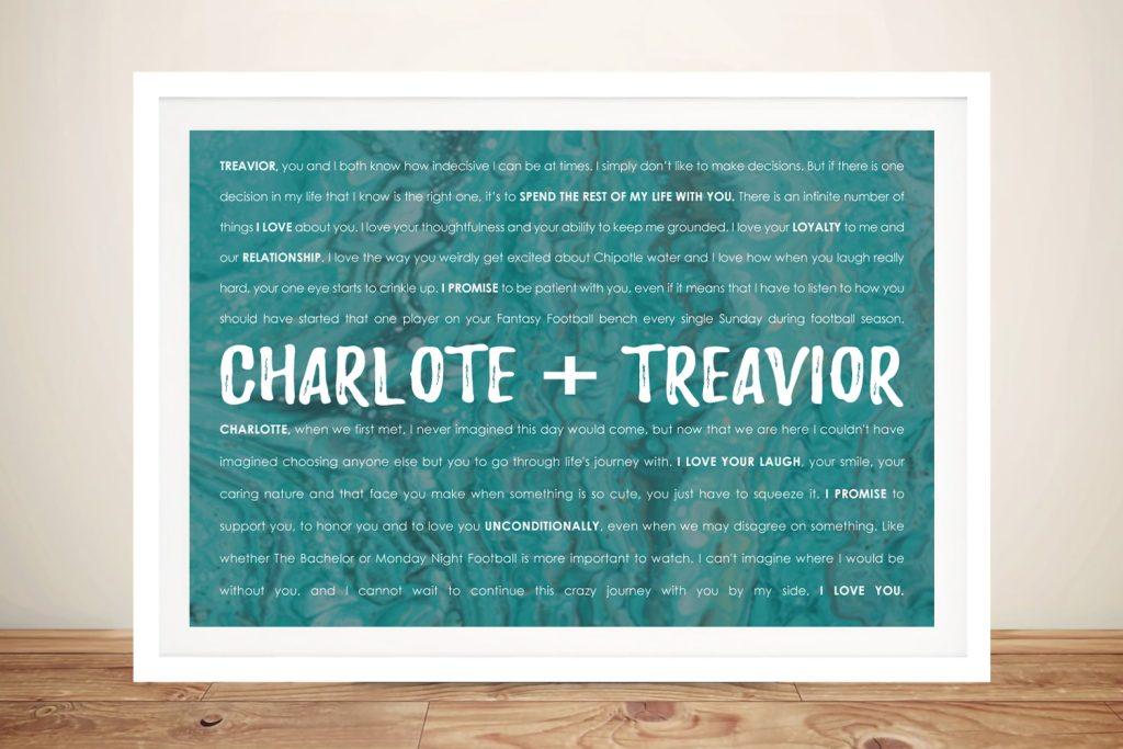 Buy Ready to Hang Custom Vows Word Art