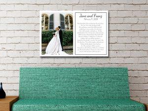 Buy Personalised Wedding Wall Art Online