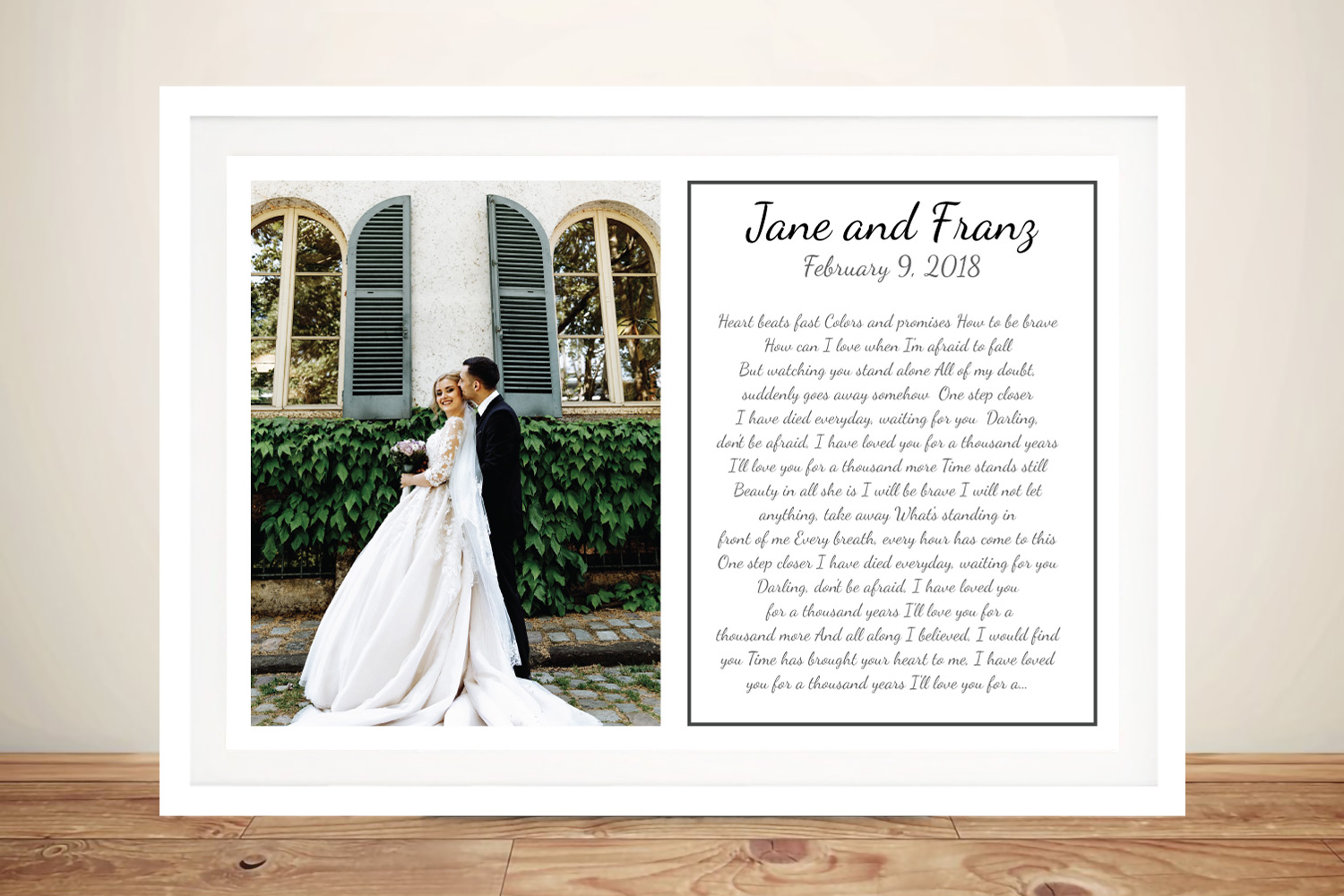 Buy Waiting for You Romantic Wall Art | Waiting for You Wedding Vows Art