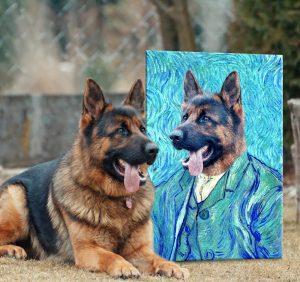 Custom Van Gogh Pet Portrait