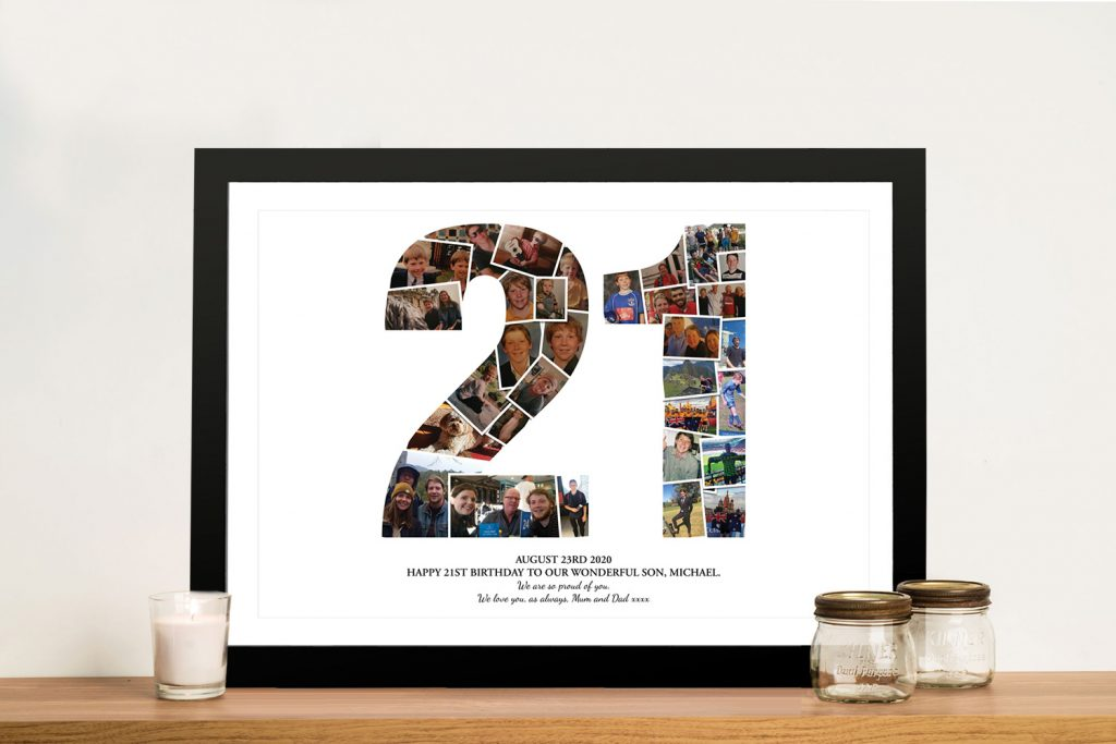 21 Birthday photo collage Art