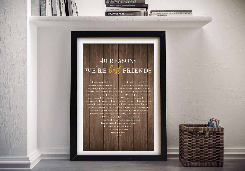 40 Reasons Why Custom Framed Art | 40 Reasons Why We're Friends