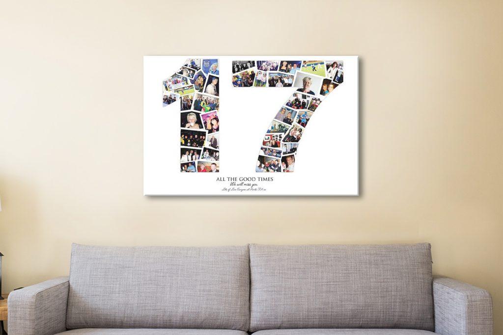 Custom Birthday Photo Collage Art