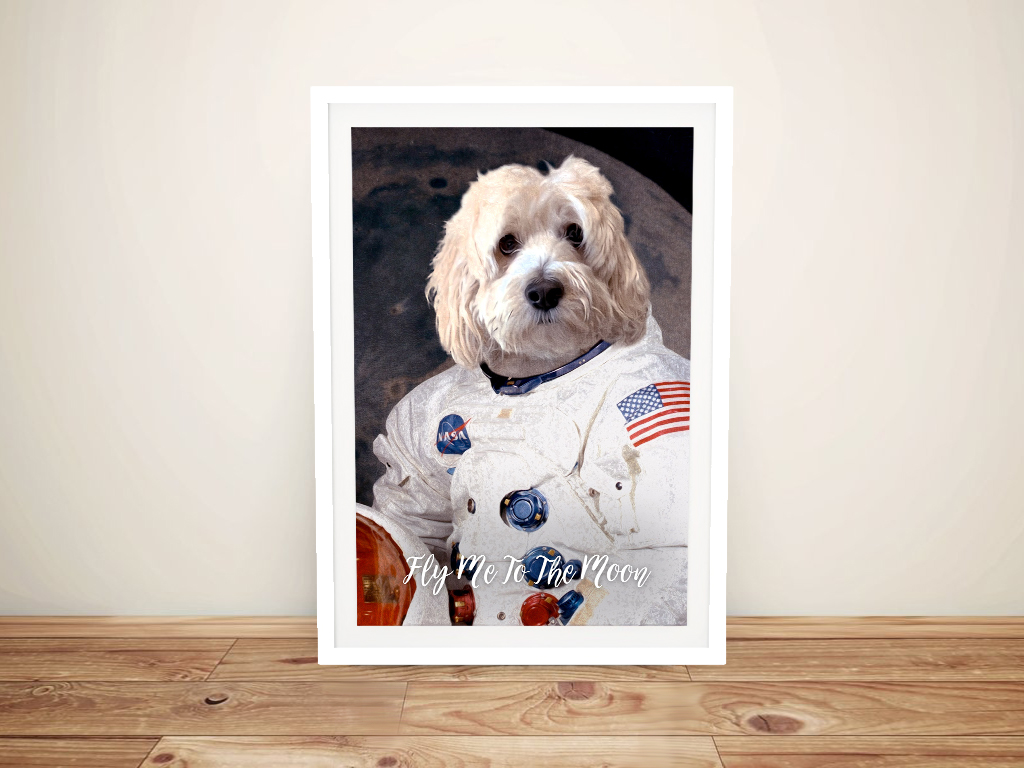Astronaut-Dog-Portrait-Framed-Art