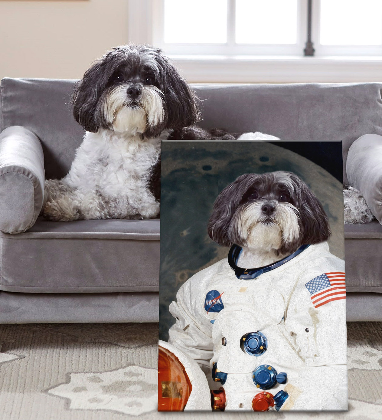 Buy a Personalised Framed Astronaut Pet Portrait | The Astronaut 2