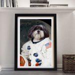 Astronaut-Pet-Portrait-V2-Framed-Wall-Art