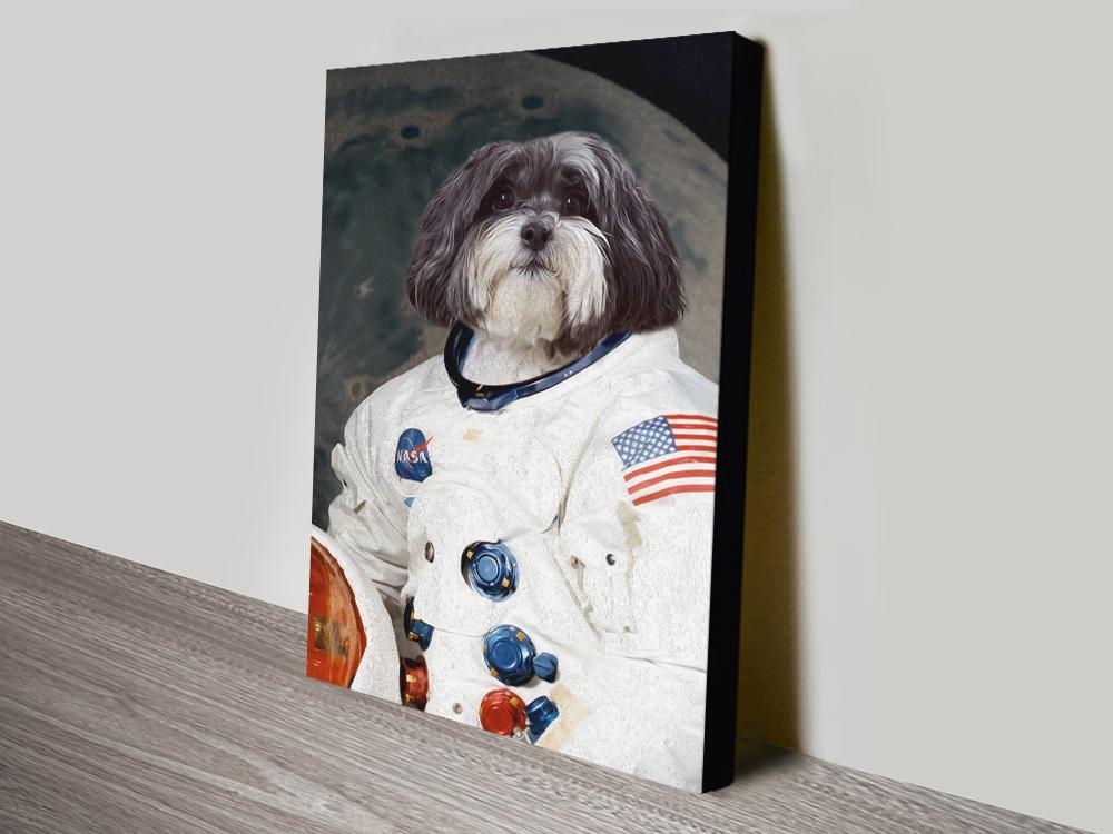 Buy Custom Astronaut Pet Wall Art Online