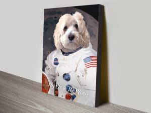 Astronaut Pet Portrait canvas print