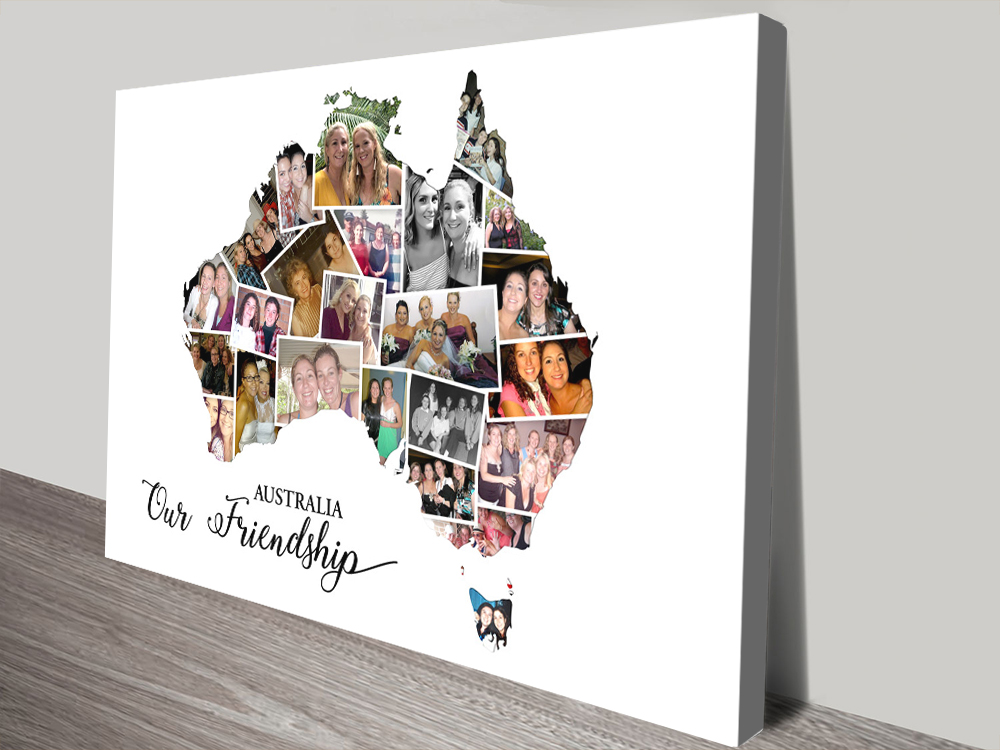 Photo Collage Map Wall Art Great Gift Ideas AU