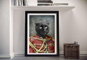 Personalised Cat Pet Portrait Framed Art
