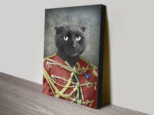 Cat Pet Portrait canvas print
