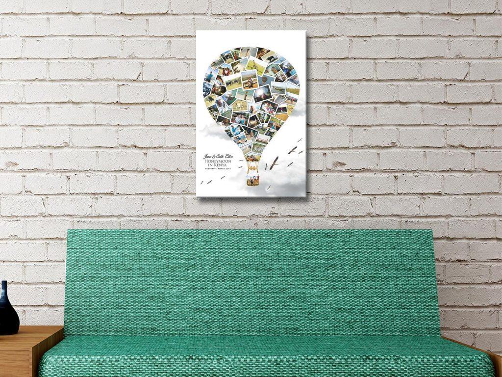Balloon Collage Canvas Artwork