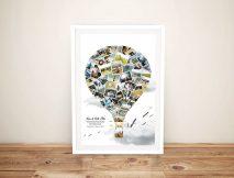 Personalised Honeymoon Balloon Photo Collage