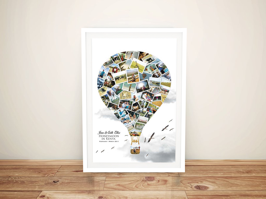 Personalised Honeymoon Balloon Photo Collage | Balloon Photo Collage