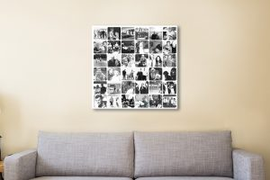 Black and White Photo Collage Canvas