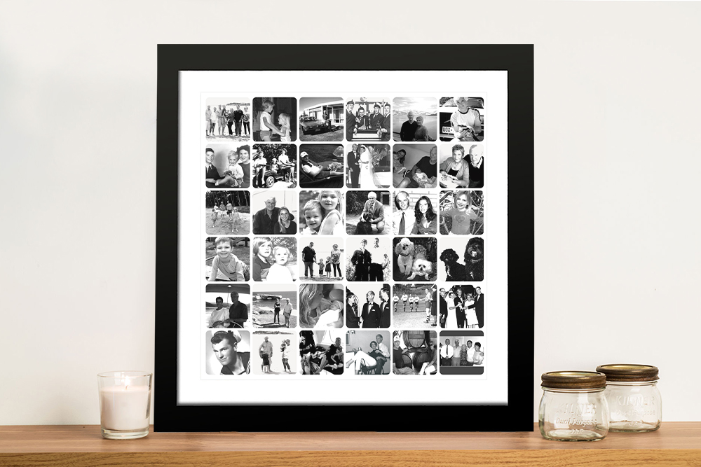 Personalised Black and White Photo Collage | Black and White Photo Collage