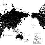 Black-and-White-World-Map-Australia-Centric