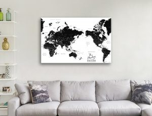 Buy Pushpin Map Wall Art in a Range of Colours AU