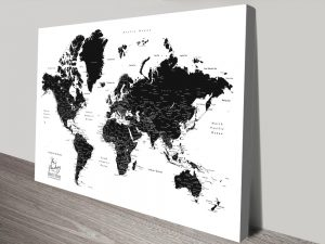 Buy World Map Wall Art in our Online Gallery Sale