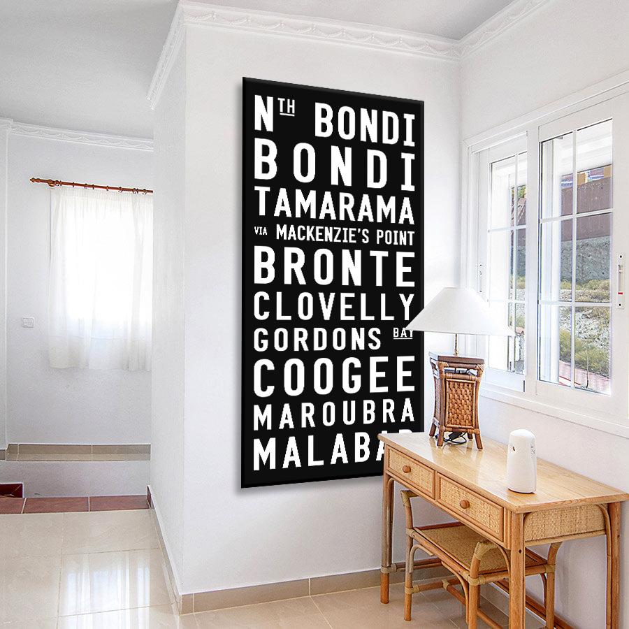 Bondi to Malabar-contemporary Canvas Artwork
