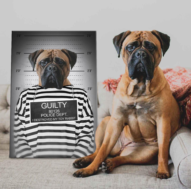 Personalised Convict Dog Portrait Canvas Art | The Convict