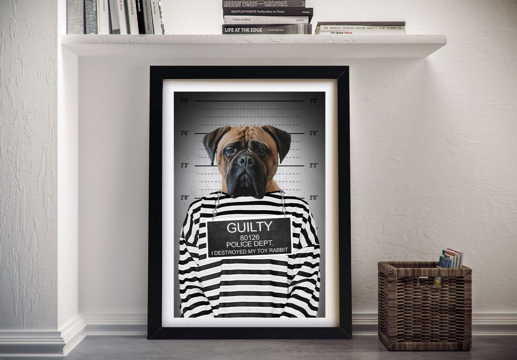 Convicted Pet Portrait Framed Art